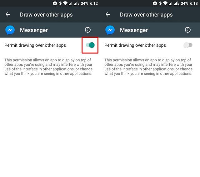 Cho phép ứng dụng vận hành trên ứng dụng khác